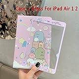 SMZNXF Tablet PC-Hülle,Glasetui für iPad Mini 12345 Smart Case für iPad 9.7 2017/2018 Niedliche Tiere Stehen Schutzhülle für iPad Air 1 2, für iPad Air 1 2