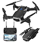 Drone GPS EACHINE E511S avec caméra 1080P HD WiFi FPV transmission en direct, quadricoptère RC, mode Follow-me, flip 3D, vol en trajectoire, drone pliable pour débutants, nouvelle version (noir)