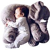 Misandrie Riesige Gefüllte Elefant Kissen Weichem Plüsch Elefant Kissen für Baby/Kinder Niedlich Kuscheln Tier Plüschtier 23,6'