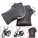 Clevoers Motorrad-Lenker-Handschuhe, verdickte Motorrad-Handschuhe, thermische Abdeckung, winddicht, für warme und verdickte Winterlenker