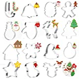 FUNVCE Ausstechformen 15 Stück Ausstecher Weihnachts Ausstechformen Set Plätzchenformen aus Edelstahl Metall perfekt für Keks,Backen Fondant Plätzchen,Tortendekorationen