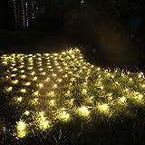 LED Lichternetz 4,5x1,6m 300 LEDs, Lichterkette mit Timer & 8 Modi, Lichtervorhang für Innen Party, Baum Garten, Weihnachten Partydekoration Wohnzimmer Kinderzimmer (Warmweiß)