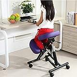 Kniestuhl QIQIDEDIAN Ergonomische Möbel Korrekte Lage Anti-Myopie Stuhl Computer Stuhl Bürostuhl, Mit Flaschenzug (Color : Purple)