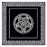 Rubyu Altar Tarot Tischdecke Tarot, Schwarzer Vliesstoff Dicker, für Tarot Divination und Den Täglichen Gebrauch im Haushalt, 49 49CM