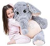 IKASA 100cm Giant Elefant Gefüllte Tiere Plüsch Spielzeug Geschenke für Kinder Freundin