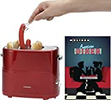 Melissa 16250059 Retro Design Hot Dog Maker 650 Watt Wurst Maker Toaster Würstchenwärmer Rot Metallic