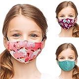 ALB Stoffe® Shield Pro Kids LAMAKI, Mund-Nasen-Masken für Kinder, 100% Made in Germany, Ökotex, Mundschutz waschbar, doppellagig, 3er Pack