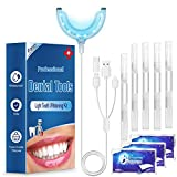 Zahnaufhellung led, 5 Zahnbleaching gel und 3 White Stripes, iFanze Teeth whitening Kit fr weie Zhne Zuhause