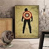 Der Kapitän Classic Super Hero Filme Poster Home Decor Wandkunst Bild Bild Kinderzimmer Kinderzimmer Malerei Leinwand Malerei 50 * 70cm X.