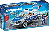 PLAYMOBIL City Action 6873 Polizei-Einsatzwagen mit Licht- und Soundeffekten, Ab 5 Jahren
