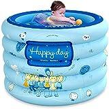 LAMTON Baby-Pool, aufblasbarer Baby-Teppich, Folding Pool mit Luftpumpe und Bad Ring, PVC Thick - for Baby