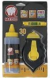 Medid 190 Schlagschnurroller-Set aus ABS - 30 Meter Schlagschnur - 115 g blauem Farbpulver - Schnurwasserwaage