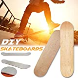 Skateboards Deck, 8 Zoll 8 Schicht Maple Wood Blank Double Concave Skateboards Cruiser Holz Deck Natural Skate Deck Board Natürliche
