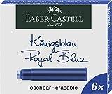 Faber-Castell 185506 - Tintenpatronen Standard, 6 Stück, Königsblau