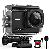 COOAU Native 4K 60fps 20MP WiFi Action Cam Sportkamera mit 8XZoom verbessertem EIS Stabilisierung...