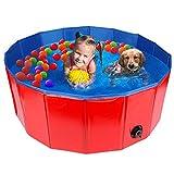 HALOVIE Hundepool Swimmingpool für Hunde 80/120/160x30CM Planschbecken Schwimmbecken Hundebadewanne Faltbarer Pool PVC rutschfest Haustierpool Kunststoffpool Kunststoffhundepool Haustierschwimmbad