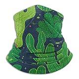 Green Plant Cactus Halbgesichtsschild Sturmhaube Halswärmer Winter Skischilde für Männer Frauen