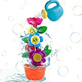 Nuheby Badespielzeug Badewannenspielzeug Set Kinder Spielzeug ab 1 2 3 Jahre Junge Mädchen mit Süße Blume Wassermühle und Saugnapf für Badewanne