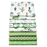 YYSZ Stoffbündel für Patchwork-Quilten, vorgeschnittene Quilt Quadrate, 45,7 x 55,9 cm, Grün, 8 Stück
