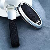 LUOLONG Car Key Case, Carbon-Faser-Styling Schlüsseletui Schlüssel-Abdeckung Für Nissan Qashqai J10 J11 X-Trail T31 T32 Tritte Tiida Pathfinder Murano Hinweis Juke, Stil B Caron