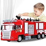 Fernbedienung Feuerwehrauto Polizeiauto Spielzeug Polizisten Elektroauto Feuerwehr Rettungs Train Kinder Kinder können Spray Wasser-LKW-Lade Musik-Licht-Auto-Löschfahrzeug Feuer Kinder Geschenke Spiel