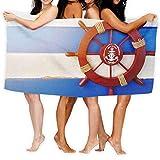 LisaArticles Reisetuch,Summer Tourism Symbol Großes Handtuch, Niedliche Lustige Adult Spa Handtücher Für Sport Gym Running,80x130cm