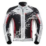BOOM Motorrad Jacke wasserdichte Und Atmungsaktive Motorradbekleidung mit Herausnehmbares Warmes Innenfutter Integrierte Schutzausrüstung,M