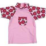 mayo Sonnenschirm – T-Shirt mit UV-Schutz für Mädchen 0 – 4 Jahre – 3 – 4 Jahre – Himbeere-C