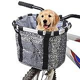 Hamiledyi Hundetragetasche für Hunde, Abnehmbarer Vorderkorb für Hunde, Haustiere, Katzen, Hunde, einfache Installation, schnell abnehmbar