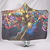 YxueSond Tree of Life Colorful Art Wohndecke Super SoftCozy Lightweight Durable Bettcouch Decke White 130x150cm