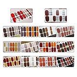 Gobesty Nagelfolie, 14 Blatt Nagelsticker Selbstklebend Nagelfolie Nagelaufkleber Nagel Kunst Sticker Nail art Tattoos Nagel Abziehbilder