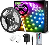 LE 5M RGB LED Strip Set, 5050 SMD LED Streifen, 12V, Selbstklebend LED Strips, Flexibel LED Band,...