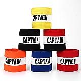 SoulBest Fußball Spielführer-armbinde,Fußball Captain Armband,Klettverschluss für verstellbare Größe, geeignet für mehrere Sportarten wie Fußball & Rugby,Erwachsene & Junior Kapitänsbinde(6 Stück)