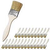 Malerpinsel Set (24 teiliges) - 2' (50.8mm) Pinselset mit Holzgriff für Farben, Beizen, Lacke, Acrylfarbe - Flachpinsel zum für das Streichen von Wänden