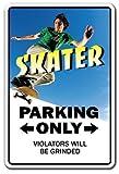 Oti34fgtephe Skater Schild Parken Skateboard Rder Trucks Deck Skating Skateboarding Aluminium Metallschild 30,5 x 45,7 cm