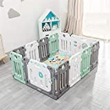 Lisansang Kinderspiel Zaun Indoor Sicherheits Wiedergabe Playpen Anti-Skid Baby Kinder Activity...