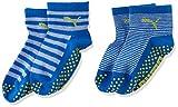 PUMA Kinder Baby Sock ABS 2P , Blue Green Combo 634 , 19-22