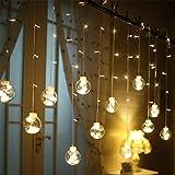 Egosy LED Lichtervorhang Fenster Lichterkettenvorhang Indoor Vorhang-Licht Für Weihnachten, Neujahr, Partei, Hochzeit, Daheim Dekoration