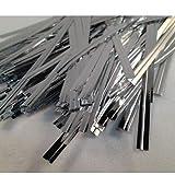 Sungpunet Twist Bindungen metallic Silber 100mm / Bag Versiegelungen farbigen Kunststoff-Draht für Hauptdekoration Küchenbedarf