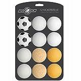 GOODS+GADGETS 12x Stück Speedball Kickerbälle für Tischfussball Tischkicker Kicker-Ball Set Auswahl Verschiedene Sorten (Kork, PE, PU, ABS) 35mm