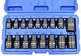 US PRO 3420 Schlagschrauber Nüsse E5-E24 E-Profil 3/8' + 1/2' Steckschlüssel Satz Schlagnüsse