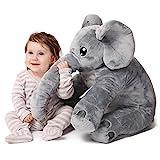 """corimori 1849 Elefant """"Nuru"""" großes Plüsch-Tier für Babies und Klein-Kinder, bauschig und weich, kuschel-softe Baby-Qualität, grau"""