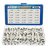 BOJACK 15 Werte 150 Stück Glas sicherungen Sortiment 5 x 20 mm 250V 0,1 0,2 0,25 0,5 1 1,5 2 3 4 5 8 10 12 15 20A Paket in einer transparenten Kunststoffbox