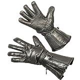 Vulcan Leder Abreißbare Motorradhandschuhe Gr. XS, Schwarz