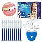 Teeth Whitening Kit,Zahnaufhellung Set,Bleaching Set,Zahnaufhellung Gel,Flecken Entfernen,Schwarze Zhne,10x Teeth Whitening 2x Dental Trays Gel Kit