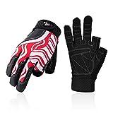 Vgo... SL0058-KW Kinder Halbfinger-Handschuhe, atmungsaktiv, für Segeln, Bootfahren, Rudern und Kajakfahren, Rot, 1 Paar XXL rot