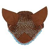 SaniMomo Fliegenhaube Ohrenhaube Fliegenmütze Fliegenschutz Insektenschutz Für Pferd - Braun