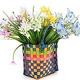 Künstliche Orchideen, 6 Stück künstliche Seidenblumen, Kunstpflanze Künstliche Blumensträuße, Sträucher Dekoration für Hochzeit, Party, Zuhause, Garten, Büro, DIY-Dekor