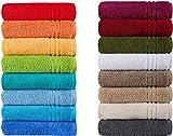 Naturawalk Handtücher Serie Milano Bio-Baumwolle in Luxusqualität, in 7 Größen und 16 Trendfarben - Grösse Handtuch 50x100 cm, Farbe Grün 060
