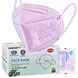 ctc connexions 20 Stück FFP2-Maske Rosa , CE0598-Zertifizierung EN149:2001+A1:2009, 5-Lagige Staubmaske Einweg-Atemschutzgerät, Unabhängige Verpackung… (Rosa)